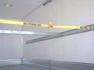 accesorios para sujecion de carga, barras estibadora, malla logistica, riel logistico