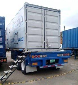 trailer portacontenedor, trailer grillo, remolque contenedor
