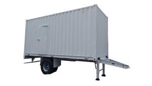 Conversion de contenedor de 20 pies en remolque