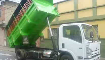 Volcos sobre camión
